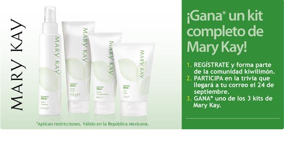 Gana un kit completo de Mary Kay