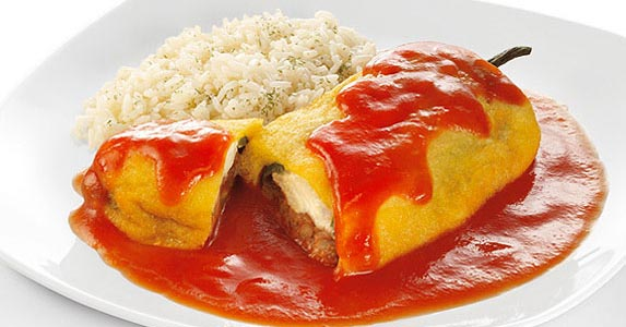 Receta de chiles rellenos con queso light