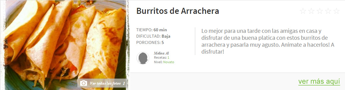 burritos de arrachera