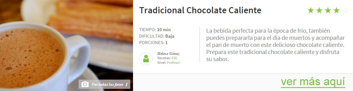 chocolate tradicional caliente