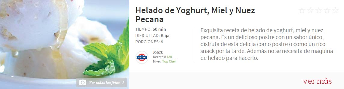 helado de yogurth