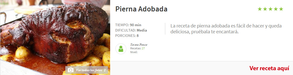 pierna adobada