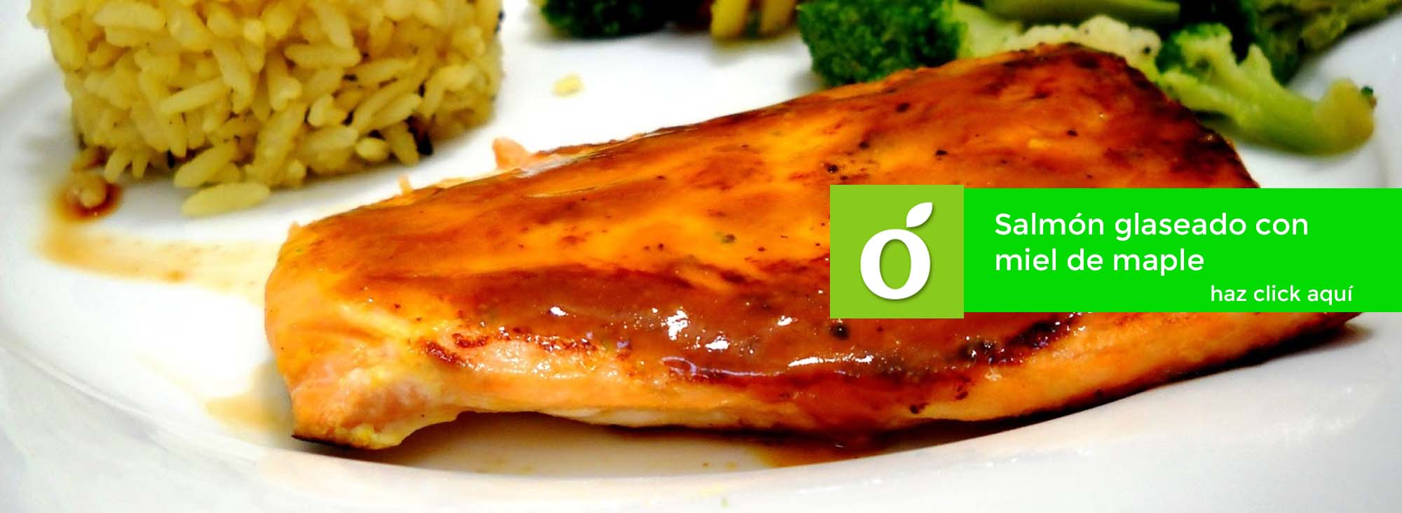 salmon glaseado con miel de maple