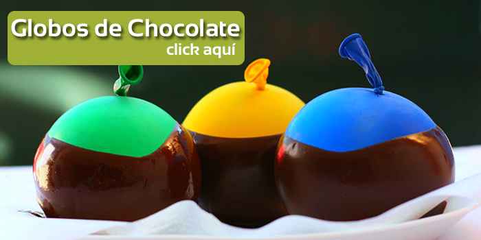 globos de chocolate