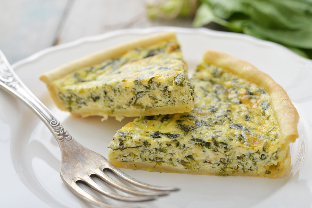 Quiche de Espinacas Light