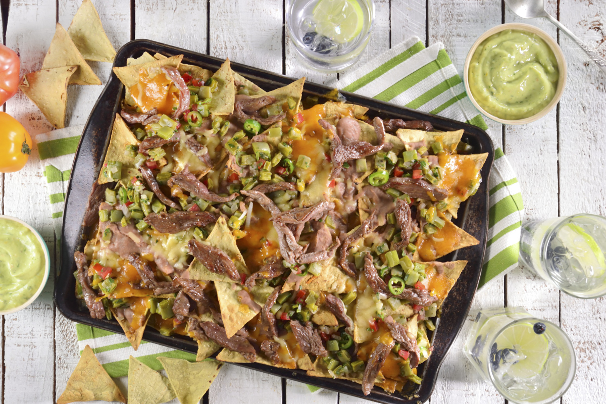 Nachos con arrachera